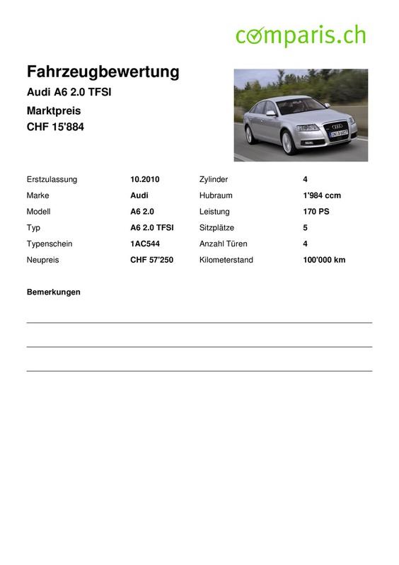 Audi A6 2.0 TFSI Audi 4