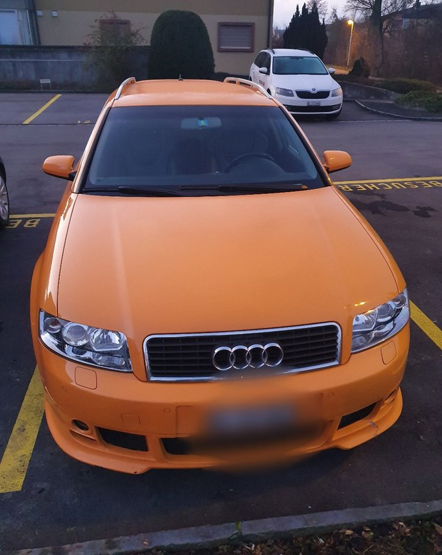 Audi A 4 ABT Lamborghini orange Audi 1