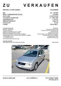 Occasion VW Polo 1.4 16V Comfort, bei Verkauf MFK